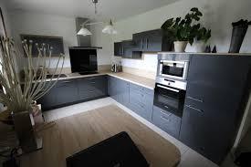 cuisine blanche et mur gris cuisine noir et meilleur decuisine fresh cuisine