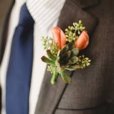 coral boutonniere wedding colors weddingbee