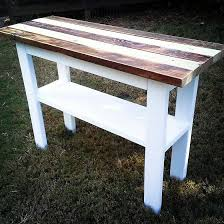 reclaimed wood entry table hand mayd furniture