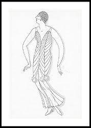 sketch of a woman wearing white mistletoe costume by robert e locher