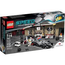 amazon com lego speed champions mclaren mercedes pit stop 75911 amazon com lego speed champions mclaren mercedes pit stop 75911 toys games