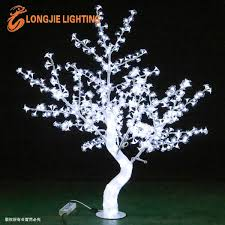 mini white led tree transparent led lighted small cherry