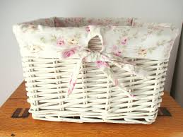 rachel ashwell simply shabby chic shabby chic rachel ashwell small wicker basket with liner pink
