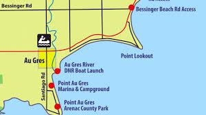 Saginaw Michigan Map by Saginaw Bay Map Kayaking Trail Youtube