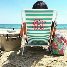 monogrammed beach chair sew personal online store powered by