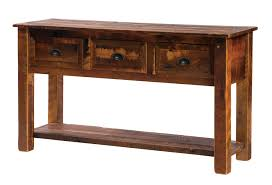Barnwood Bookshelves by Barnwood Console Table With Three Drawers