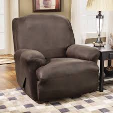 Slipcovers For Sofa Recliners Decorating Solid White Slipcover For Upholstered Recliner Chair