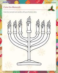 hanukkah candles colors color the menorah free hanukkah worksheet hanukkah