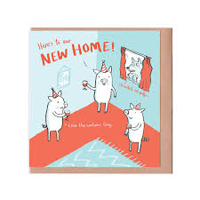 pigs new home card what s new humour and puns cards