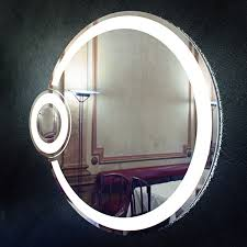 Round Bathroom Mirror by Round Bathroom Mirror With Light Eclipse Free Vr Ar Low Poly