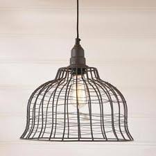 Cage Pendant Light Wire Cage Light Ebay