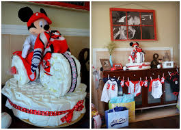 baseball baby shower diaper cake mickey mouse baby shower