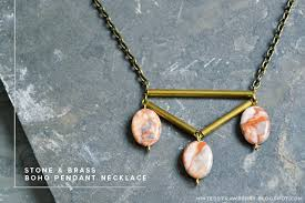 making stone necklace images Diy stone and brass boho necklace minted strawberry jpg