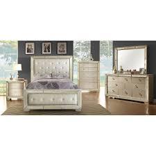 Queen Bedroom Set With Mirror Headboard Loraine Queen Bed Cm7195q