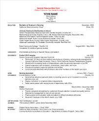 Sample Staff Nurse Resume by Student Nurse Resume New Grad Rn Resume Template Best 25