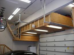 Loft In Garage Ceiling Mounted Garage Storage Ideas Ceiling Mounted Garage