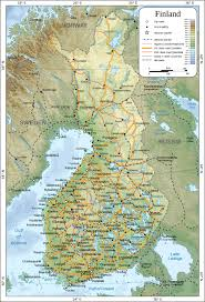 Physical Map Of Europe by Maps Of Finland Detailed Map Of Finland In English Travel Map