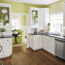 small kitchen colors kitchen cabinets and green wall