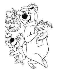 yogi bear coloring pages childrens printable free