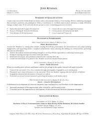 Sample Of It Resume by Public Relations Resume Sample Berathen Com