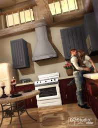 country kitchen 3d models and 3d software by daz 3d