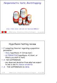 nonparametric tests bootstrapping pdf