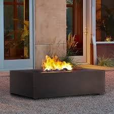propane fire pit canada amazon com t9650lp rectangle propane fire table kodiak brown
