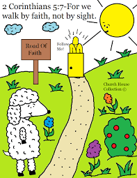 for we walk by faith coloring page
