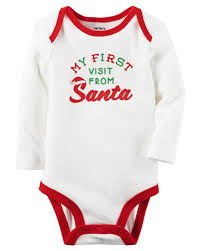 santa visit collectible bodysuit babies clothes babies