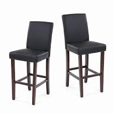 Pub Dining Room Tables Ikayaa Us Stock Pu Leather Bar Pub Dining Chairs Wood Frame Padded