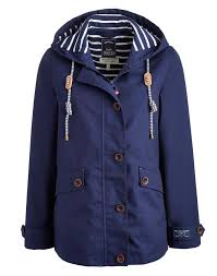 joules women s waterproof hooded jacket french navy great basic