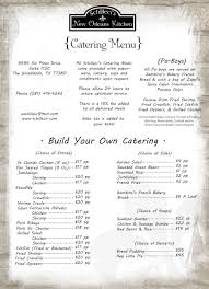 New Orleans Kitchen by New Orleans Kitchen Catering Menu Onsite Catering To Go Menus