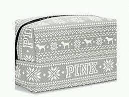 Amazon Travel Accessories Amazon Com Victoria U0027s Secret Pink Grey Fairisle Makeup Bag