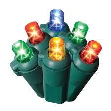 micro led christmas lights shop ge 50 count multicolor led christmas string lights energy star