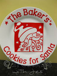 cookies for santa plate 16 00 via etsy silhouette crazy