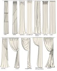 different curtain styles all sorts of different types of draperies and ways to hang them
