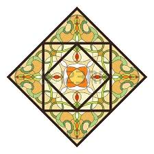Stained Glass Ceiling Light Stained Glass Ceiling L With Floral Pattern Royalty Free