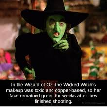Wizard Of Oz Meme - in the wizard of oz the wicked witch s makeup was toxic and copper