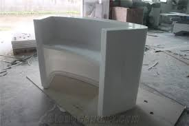 Curved Reception Desk Pure Acrylic Artificial Marble Curved Reception Desk From China