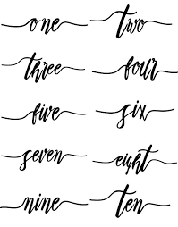 wedding table number fonts wedding table numbers script font wedding decals wedding