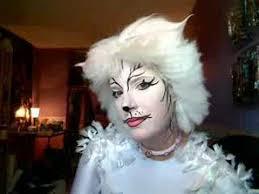 White Cat Halloween Costume Victoria Makeup Costume Rental Test Makeup