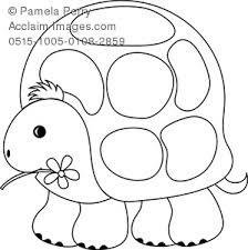 clip art image cute turtle coloring