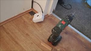 Laminate Floor Beading Fitting Laminate Beading Scotia Without A Nail Gun Youtube