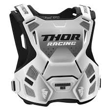 guardian mx chest protector minicross youth white black