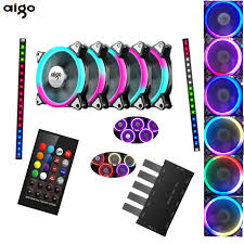 120mm rgb case fan aigo c5 rgb adjust led 120mm quiet ir remote new computer cooler