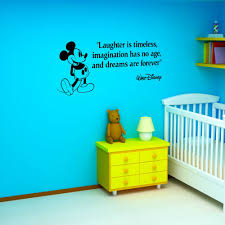 aliexpress com buy mickey mouse laughter is timeless vinyl wall aliexpress com buy mickey mouse laughter is timeless vinyl wall art sticker boy girl s bedroom wall decals nursery wall stickers mural d536 from reliable