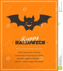 Halloween Cute Poster With Bat Silhouette Stock Vector Image