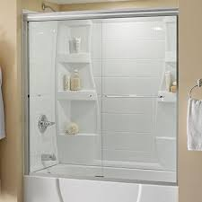 Bathroom Shower Door Clear Bathtub Doors Bathtubs The Home Depot
