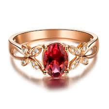 natural gemstones rings images Butterfly ring vvs red tourmaline ring gemstone engagement ring jpg