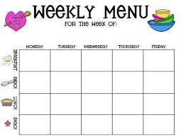 childcare menu plan template created with the childcare provider